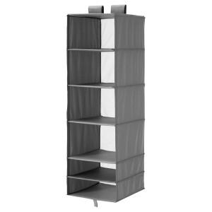 СКУББ Модуль для хранения с 6 отделениями, темно-серый, 35x45x125 см