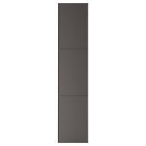 MERÅKER Дверца с петлями, темно-серый, 50x229 см