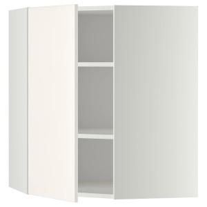 МЕТОД Угловой навесной шкаф с полками, белый, Веддинге белый, 68x80 см