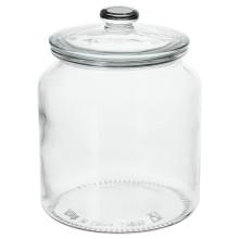 IKEA VARDAGEN банка с крышкой прозрачное стекло 18.4x Ø14.5 см 002.919.28