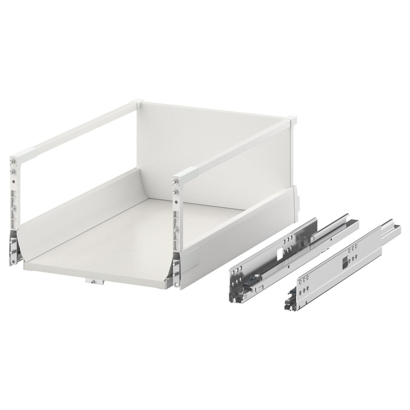 IKEA МАКСИМЕРА Выдвижной ящик, высокий, белый, 40x60 см 002.046.34
