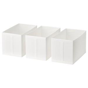 SKUBB СКУББ Коробка, белый, 31x55x33 см