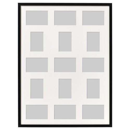 IKEA РИББА Рама для 15 картин, черный, 60x80 см 803.784.42