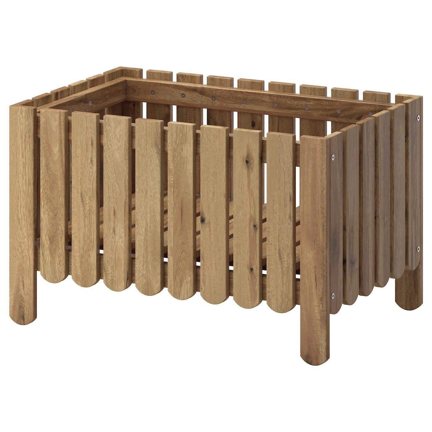 IKEA ASKHOLMEN ящик для цветов светло-коричневая морилка 39x38 см 30258673