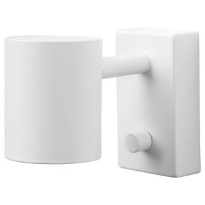 NYMÅNE бра/светильник для чтения белый 11x Ø7 см