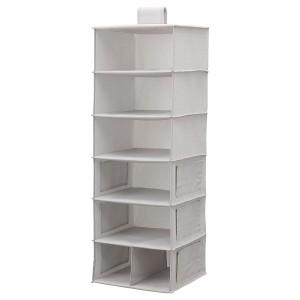 BLÄDDRARE подвесной модуль,7отделений серый/с рисунком 30x30x90 см