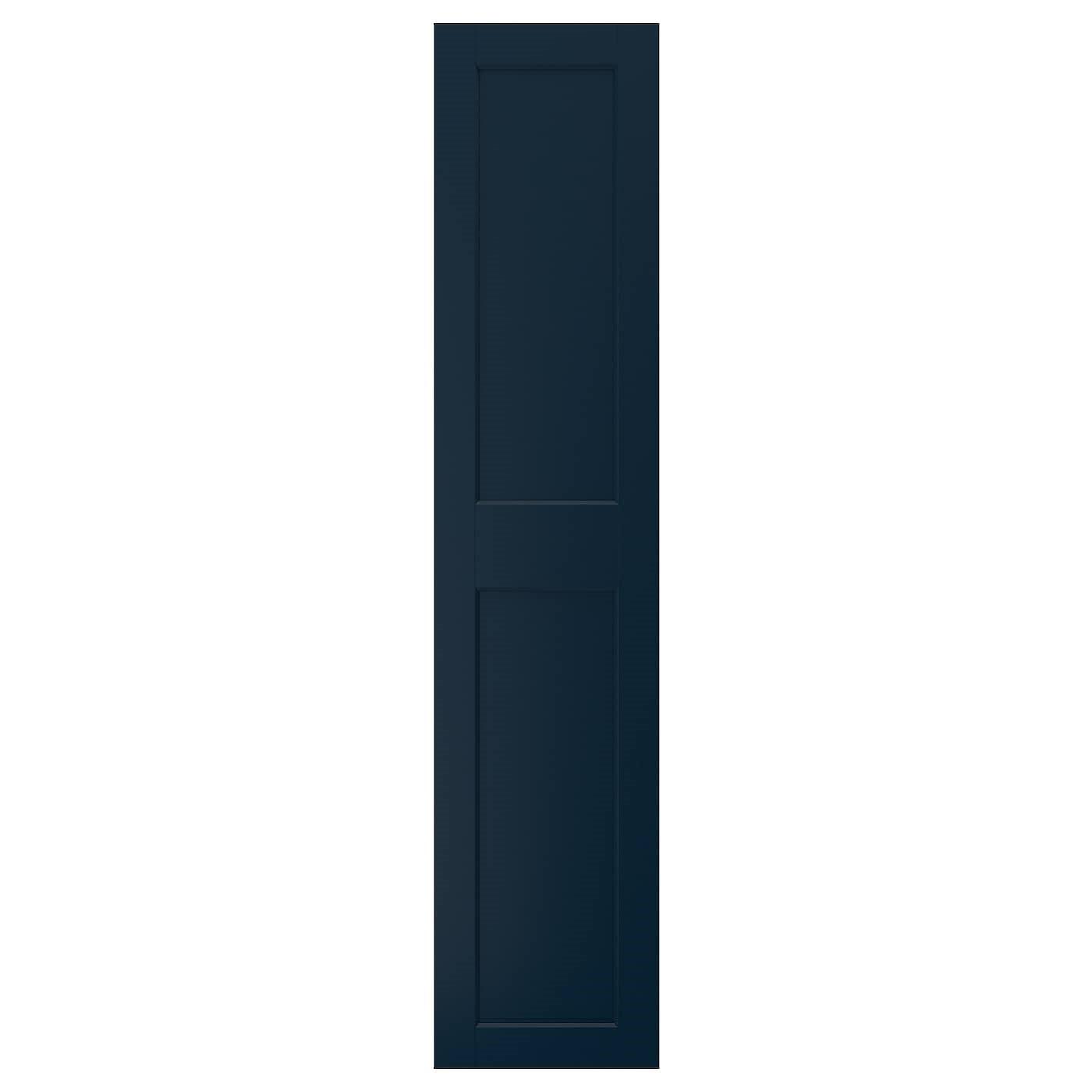 IKEA ГРИМО Дверца с петлями, темно-синий, 50x229 см 29332184
