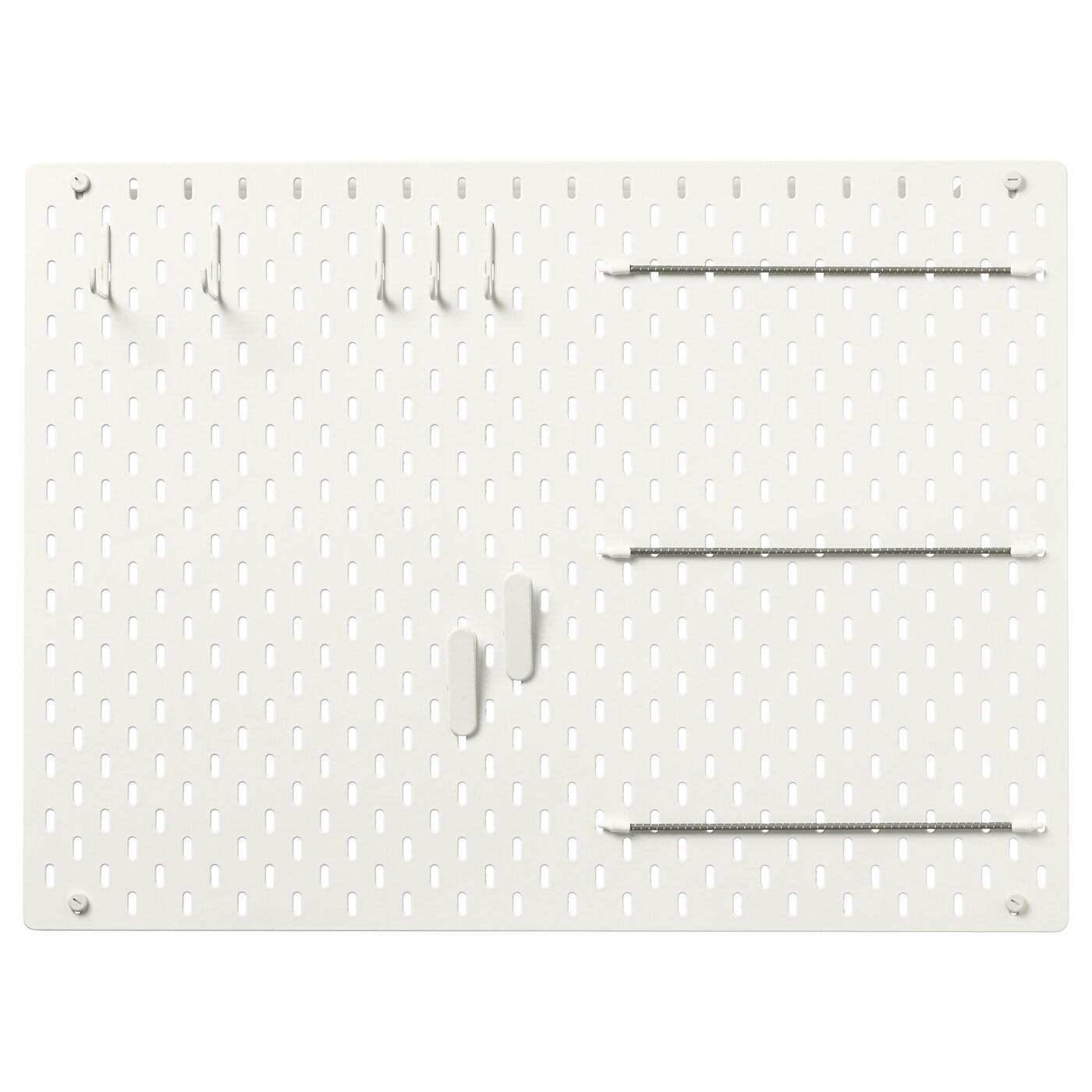 IKEA СКОДИС Настенная панель, комбинация, белый, 76x56 см 492.166.97