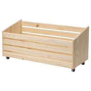 IVAR ящик для хранения, на колесиках сосна сосна 78x30x37 см