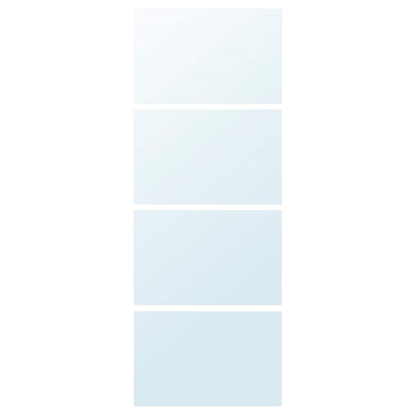 IKEA AULI 4 панели д/рамы раздвижной дверцы зеркальное стекло 75x201 см 602.112.74