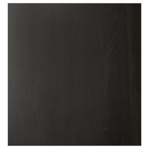 ЛАППВИКЕН Дверь, черно-коричневый, 60x64 см