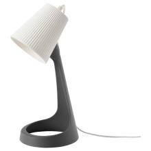 IKEA SVALLET лампа рабочая темно-серый/белый 35 см