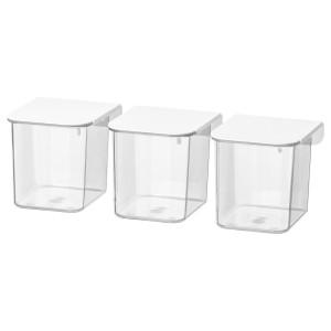 SKÅDIS контейнер с крышкой белый 7x8.5x8 см