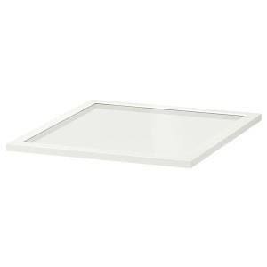 КОМПЛИМЕНТ Полка стеклянная, белый, 50x58 см