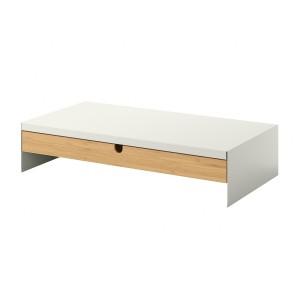 ELLOVEN подставка для монитора, с ящиком белый 47x26x10 см