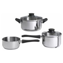 IKEA ANNONS набор кухонной посуды, 3 предметa стекло/нержавеющ сталь стекло/нержавеющ сталь 902.074.02