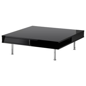 TOFTERYD журнальный стол глянцевый черный 95x31 см