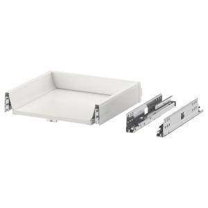 EXCEPTIONELL низкий ящик с нажимным механизмом белый 40x37 см