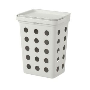 HÅLLBAR контейнер д/органич отходов+крышка светло-серый 32.6 см