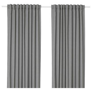 HANNALENA затемняющие гардины, 2 шт. серый 145x300 см