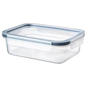 ИКЕА/365+ Контейнер для пищевых продуктов с крышкой, прямоугольн формы, пластики, 1.0 л