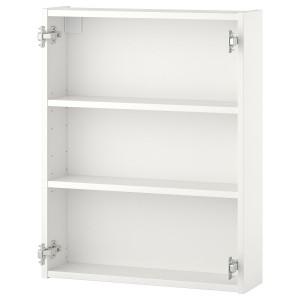 ENHET Подвесной шкаф с 2 полками, белый, 60x15x75 см