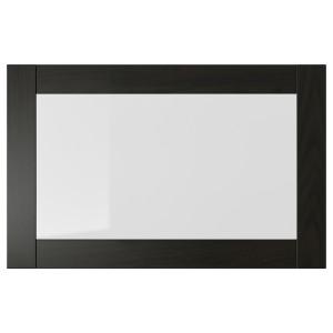 СИНДВИК Стеклянная дверь, черно-коричневый, 60x38 см