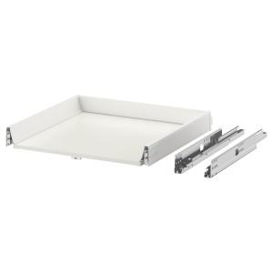 ЭКСЕПТИОНЕЛЛЬ Низкий ящик с нажимным механизмом, белый, 60x60 см