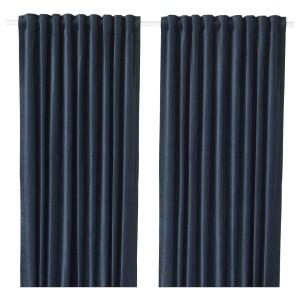 SANELA затемняющие гардины, 2 шт. темно-синий 140x300 см