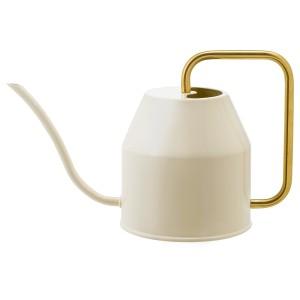 VATTENKRASSE Лейка, цвет слоновой кости, золотой, 0.9 л