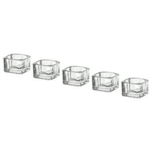 GLASIG подсвечник для греющей свечи прозрачное стекло 5x3.5 см