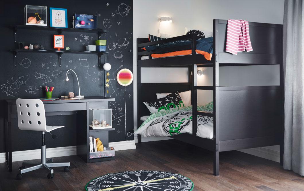 Интерьер детской IKEA - комната будущего астронавта